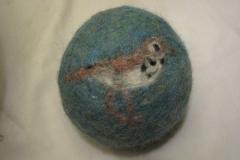 Hermit thrush ornament